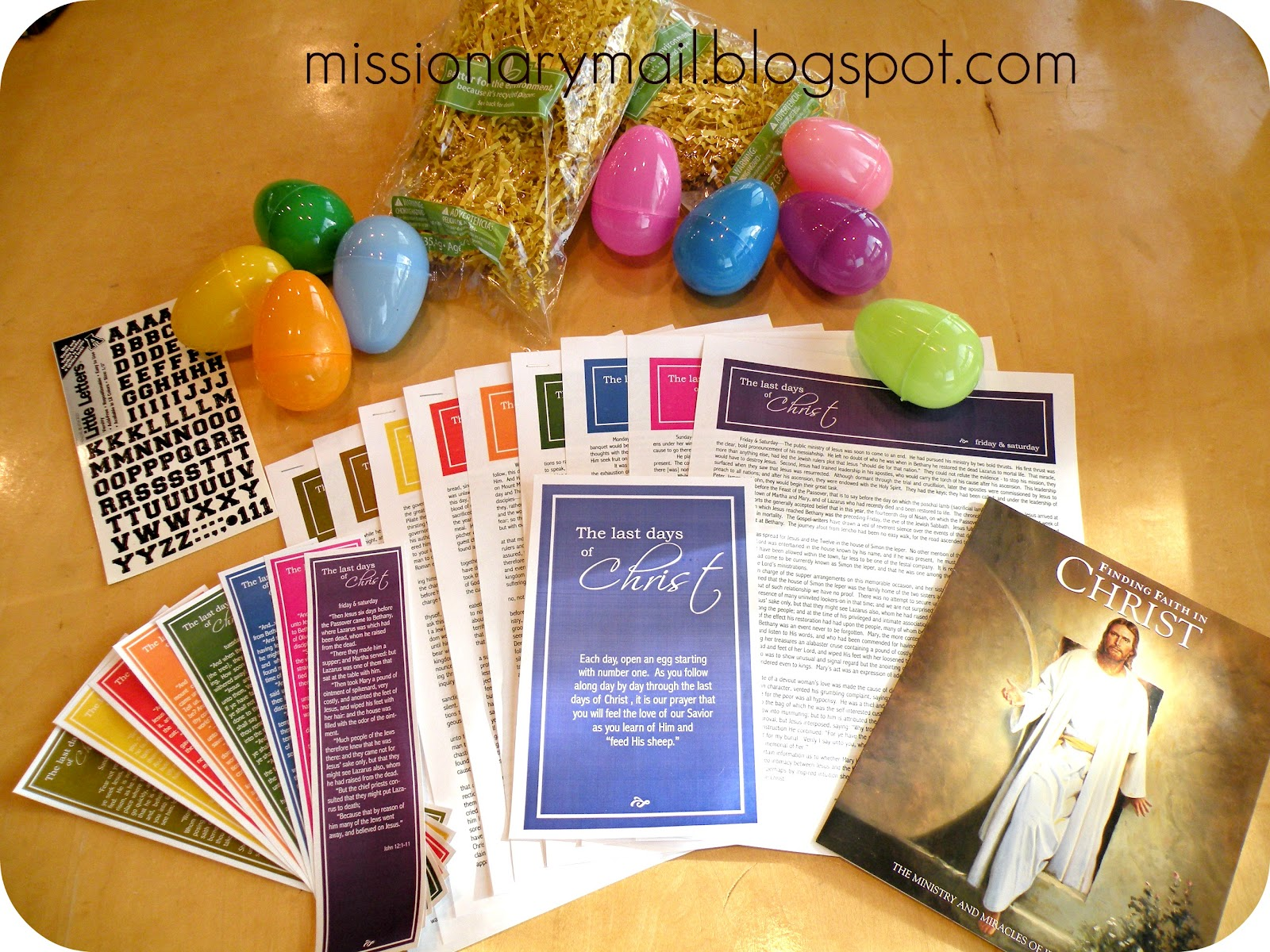 Missionary mail easter the last days of christ i wanted to send our missionaries something that would bring the true meaning of easter into their lives during passion week or the week leading up to negle Images