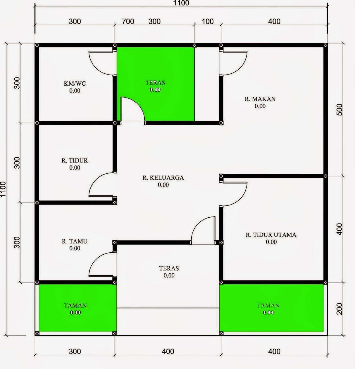 Desain Rumah Di Dalam Gang Desain Denah Rumah Terbaru Denah