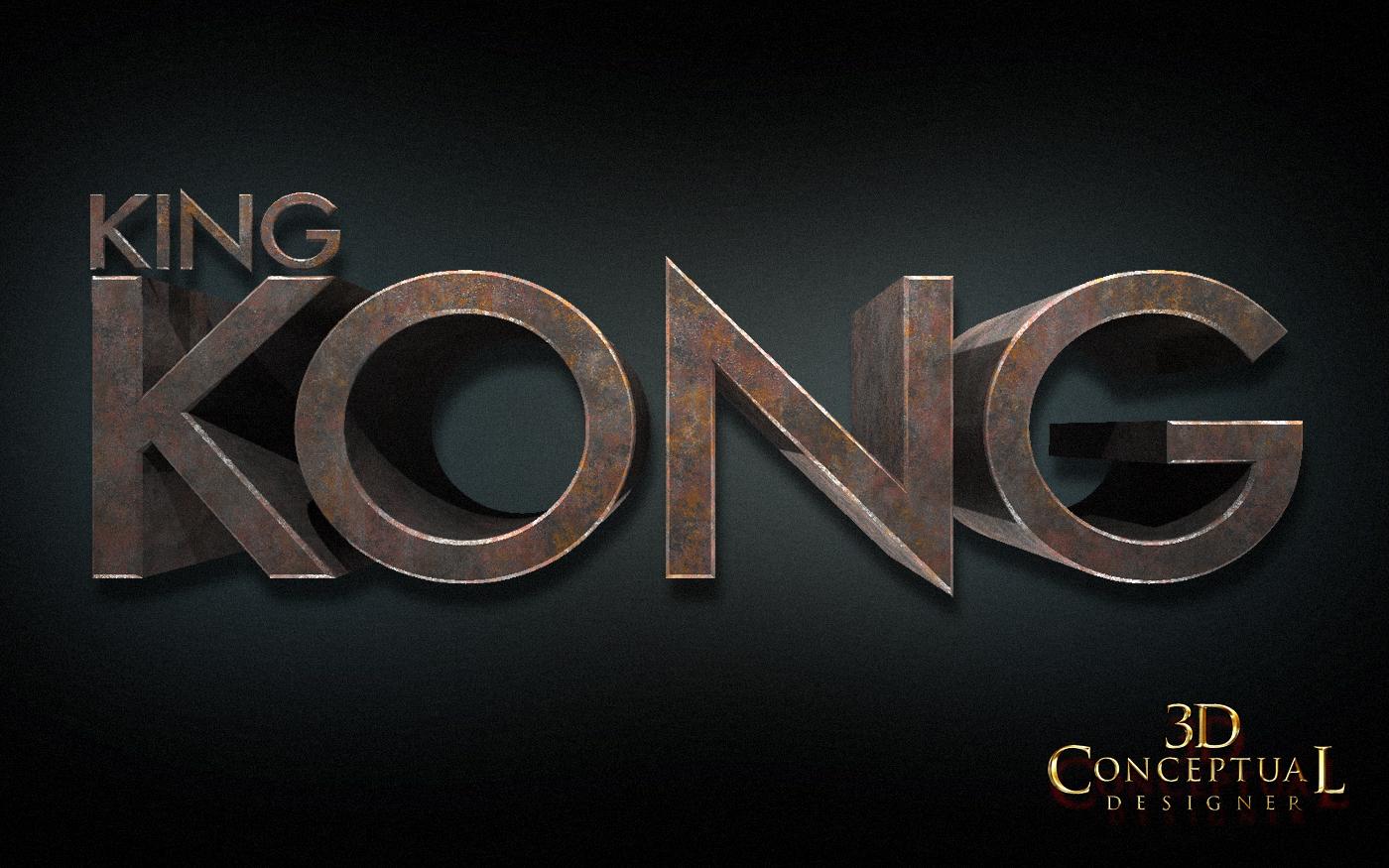 3dconceptualdesignerblog project review king kong 2005 3d logo designs part iii - King kong design ...