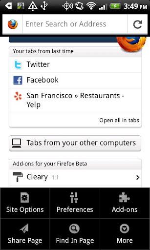 Aplikasi Mozilla Firefox untuk Android