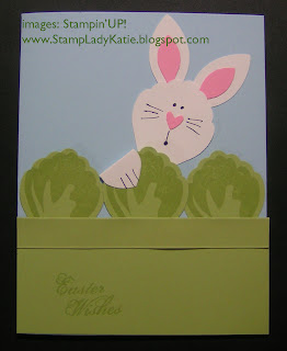 Punch Art Easter Bunny and Cabbage Card Made with Stampin'UP!'s Blossom Builder Punch