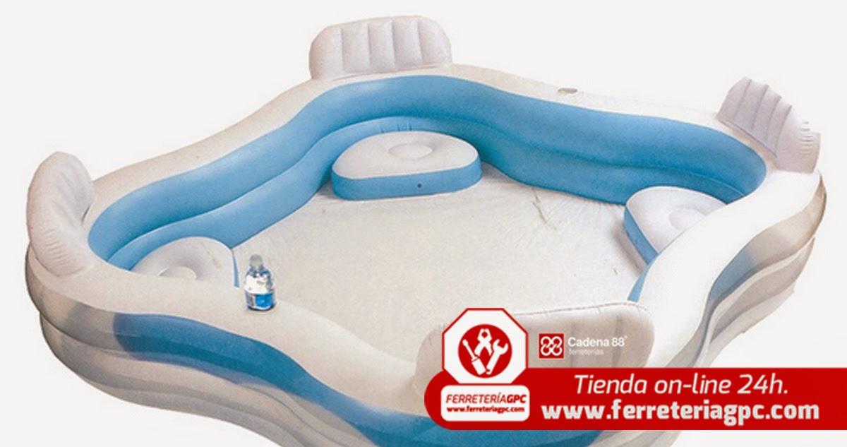 El blog de piscinas para tu jard n sin necesidad de hacer obra - Piscina hinchable con asientos ...