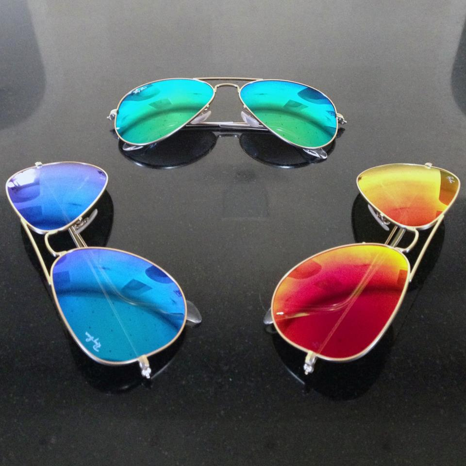 Aviator flash lenses frames