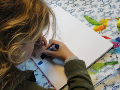 child drawing book artwork