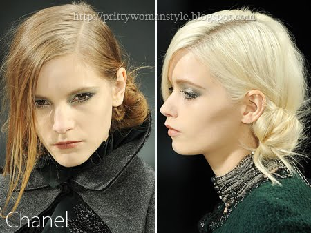 асиметрично Updo - Chanel