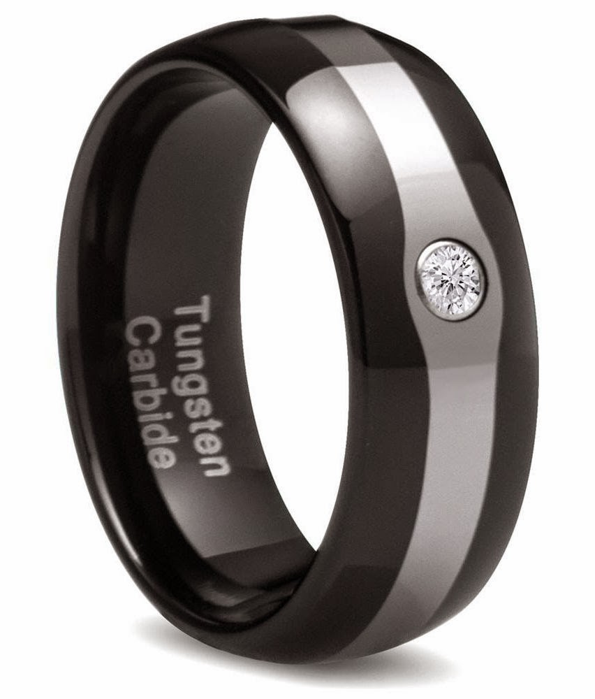 Mens Black Wedding Rings Diamond Tungsten Carbide Design pictures hd
