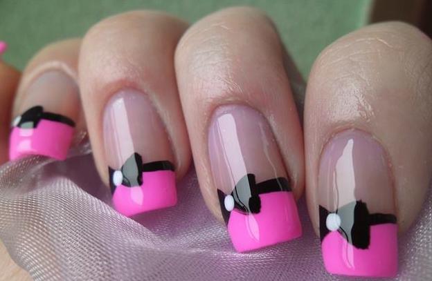 Ногти дизайн с бантиками