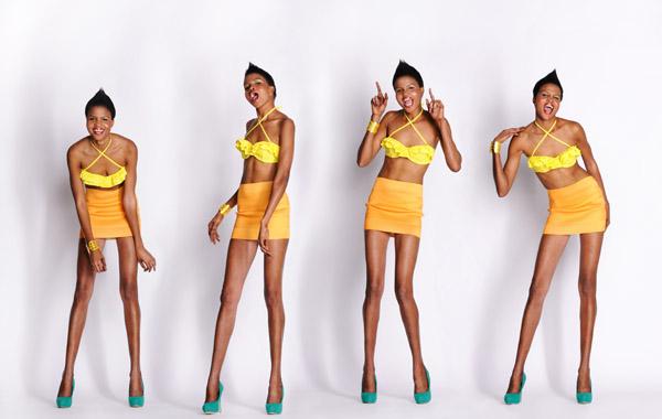 Movement series, white background studio photography for modelling portfolio Sydney.