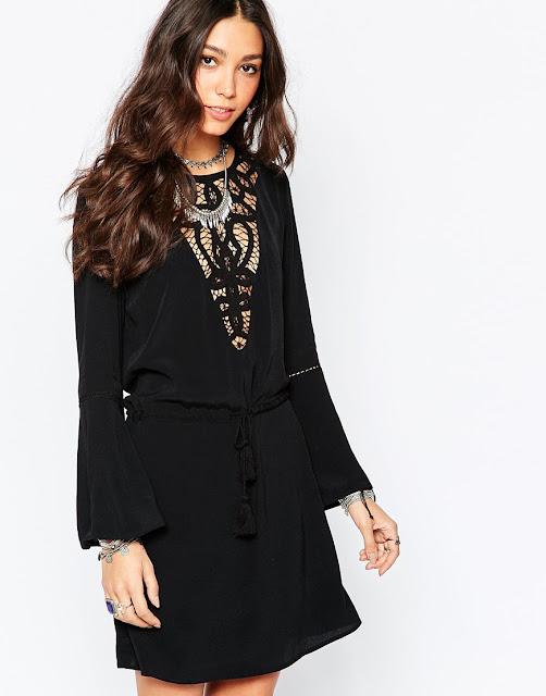 wyldr black short dress,