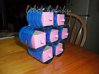 Membuat Laci Mini dari sisa Kardus dan Kaleng Susu 18