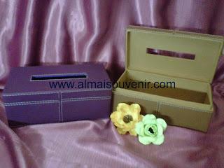 souvenir box tisu finil persegi panjang, souvenir pernikahan eksklusif