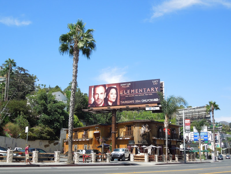 Elementary TV billboard Sunset Strip