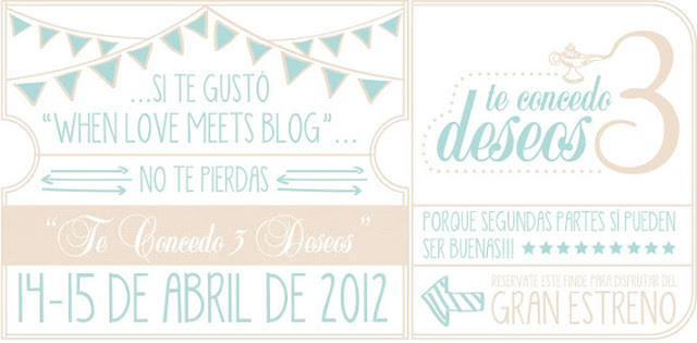 Te concedo 3 deseos - Save the date