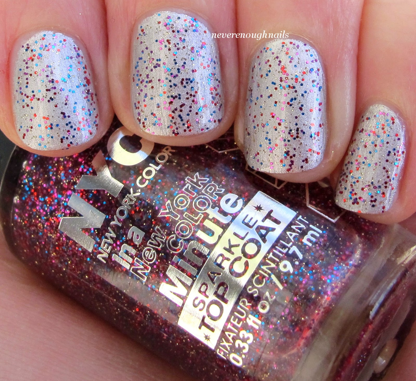 Never Enough Nails: NYC Big City Dazzle Sparkle Topcoat Swatches!