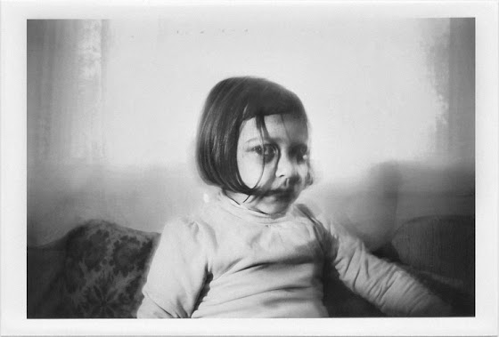 dirty photos - a - dark double exposure photo of scary little girl portrait