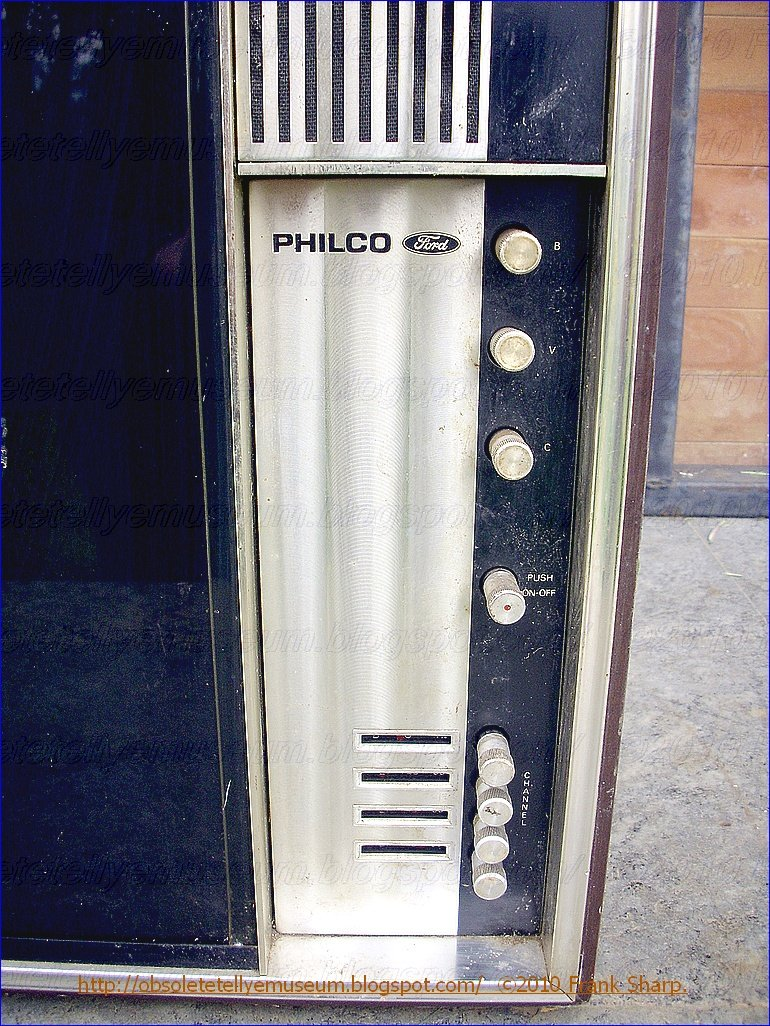 Obsolete Technology Tellye !: PHILCO (FORD) BLACK CRYSTAL 23\