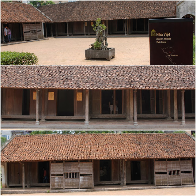 This house belonged to a wealthy family in Thanh Hoa province which is longer than a typical traditional houses at Museum of Ethnology in Hanoi, Vietnam