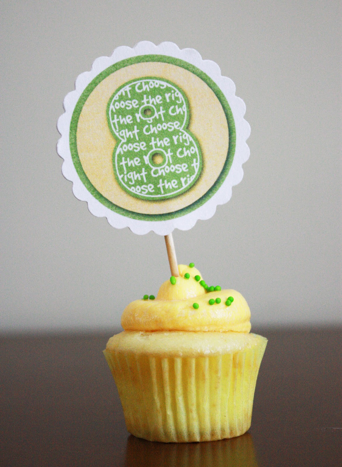 LDS Baptism Cupcake Toppers