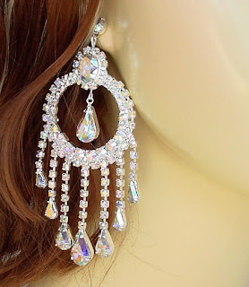 chandelier earrings gold