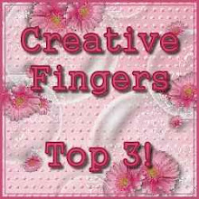 Made it to TOP 3 at Creative Fingers #29! Yay!