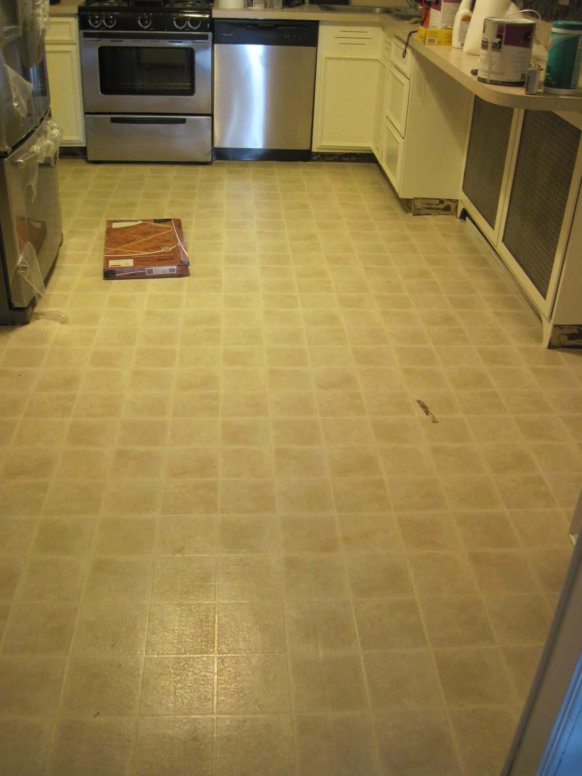 Kitchen Floor Vinyl Tiles Our Old Abode Kitchen Floor Groutable Vinyl Tile