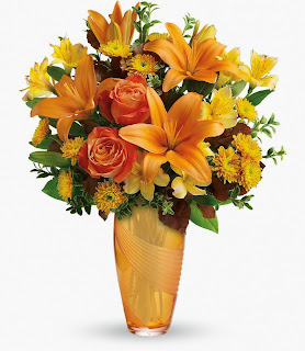 Send the Teleflora Amber Elegance Bouquet for Thanksgiving
