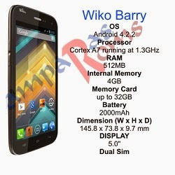 Wiko Barry short specs and stock rom download