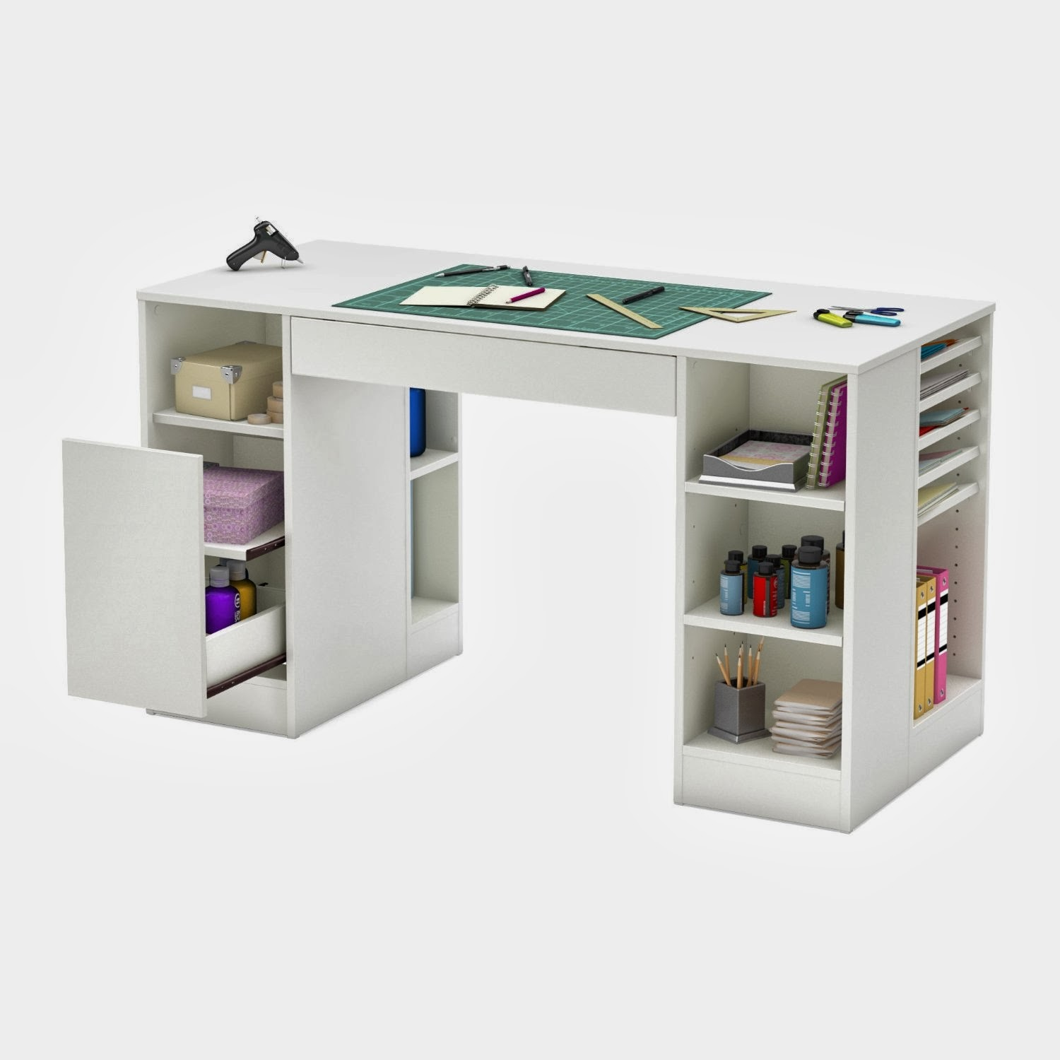 Modern kids desks for Small craft table with storage
