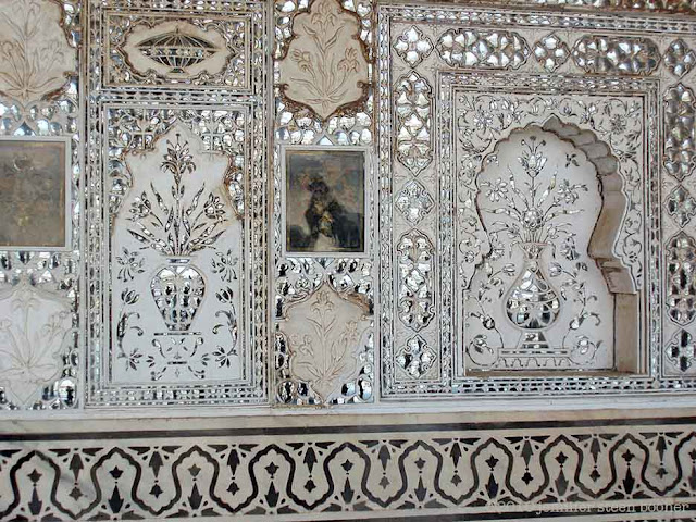 mirror, mosaic, delicate, detail, reflection, shimmer, convex glass