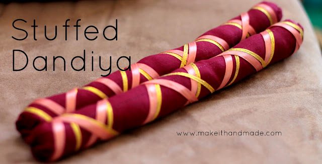 Decorating Dandiya for Raas during Navratri-- Tutorial by Make It Handmade
