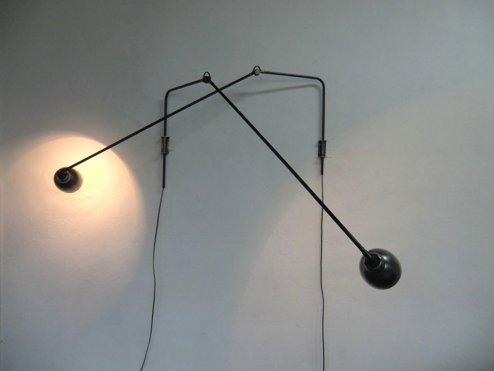 WO AND WÉ COLLECTION Lampe potence pivotante murale design industriel ajustable