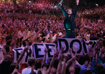 George Michael singing Freedom, one of the favourites of all time. London, 2008.