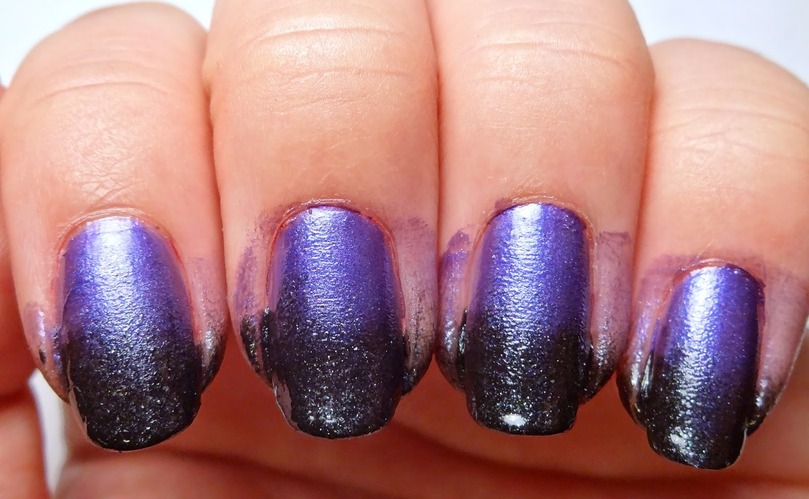 Purple and Black Gradient Nail