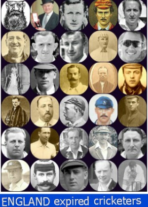 England Expired Cricketers Poster