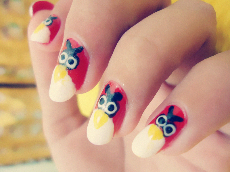 ♥ CC\'s NAILS ♥: My Angry Birds Nails