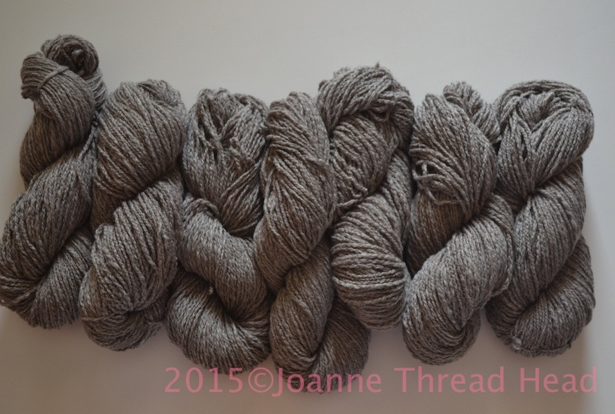 Spun up into 7 skeins of DK/Worsted weight yarn. Total is 883g/31oz ...