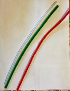pipe cleaner candy cane ornament craft