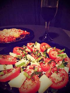 the italian bearded chef, BBP, BBPpresents, bear yovino, bearded chef, Brother Bear Productions, chef, cook, cooking, food, food porn, home cooking, homemade, Italian, kitchen, learn to cook, recipe, skypecooking, tutorial, yovino, yovino family, stuffed manicotti, manicotti, ricotta, Caprese Salad, Red Wine Vinegar, Pinot Noir, BelGioioso, Romano Cheese