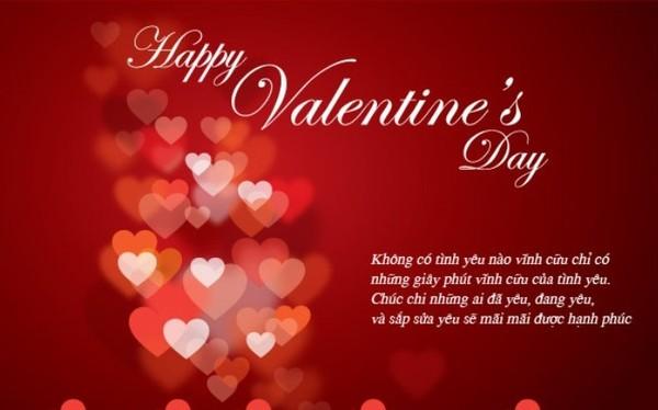 Lời chúc valentine hay và ý nghĩa nhất