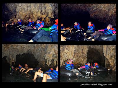 cave tubing aman