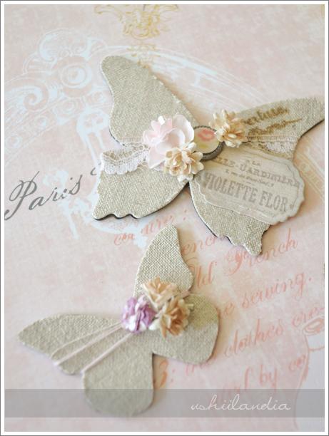 magnesy dekoracyjne motyle lniane