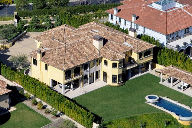 Picture of the new house as seen from the air