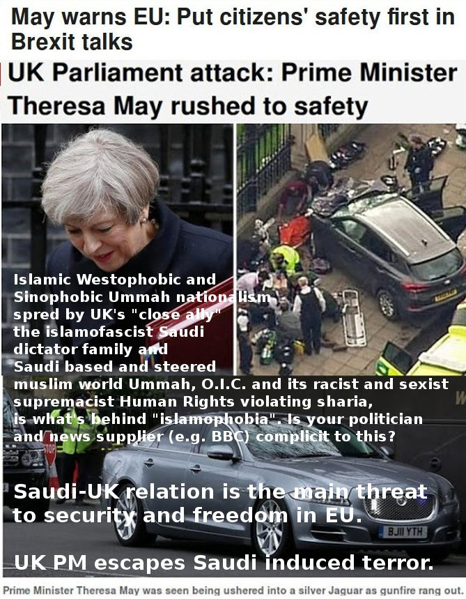 Saudi induced muslim attack on UK Parliament. How many elsewhere? And what about Saudi/OIC's sharia