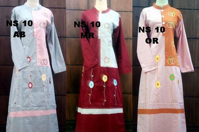 Baju gamis katun jepang ns10 toko online mbs Toko baju gamis bahan katun jepang