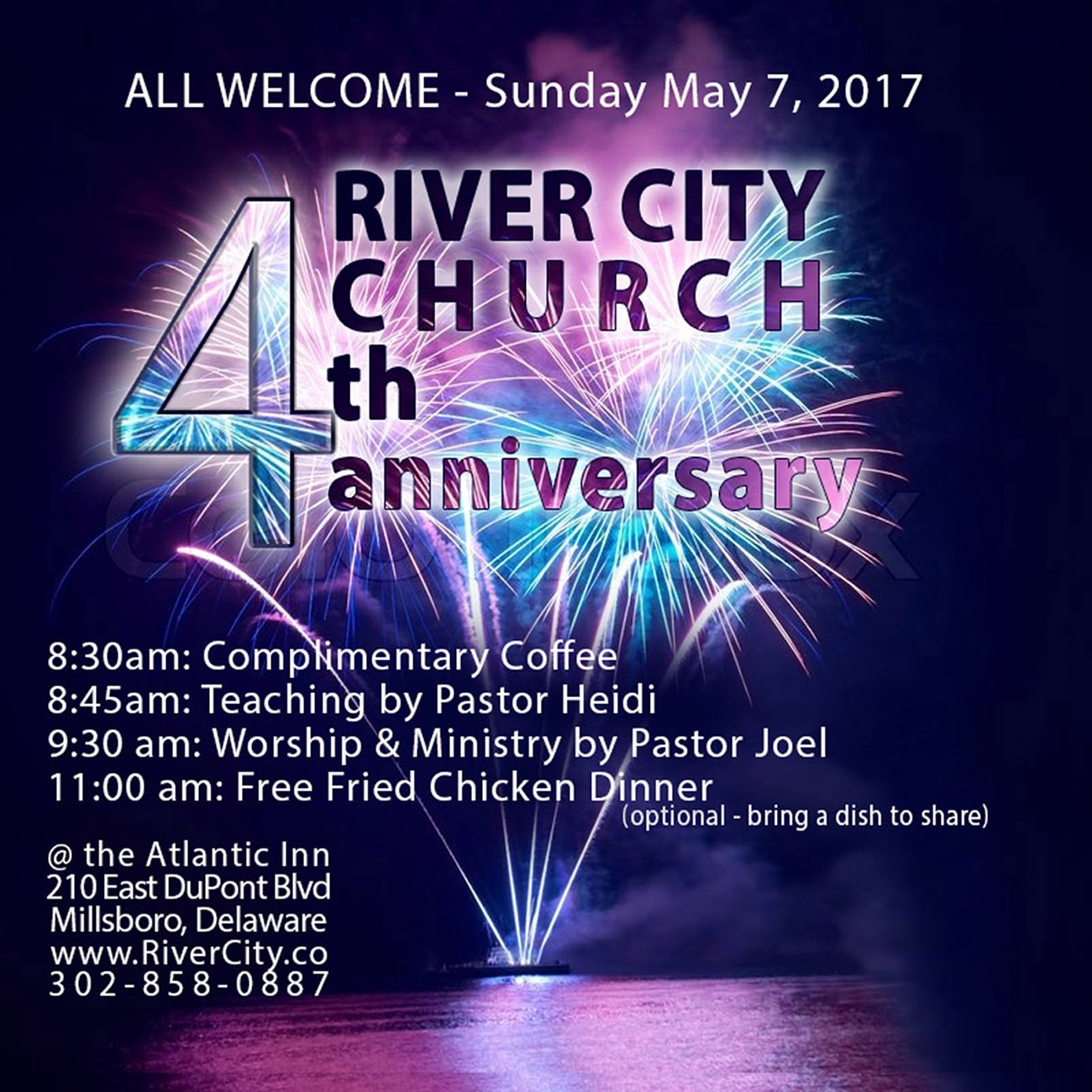 River City Church, Sundays 9:30am Millsboro, Delaware