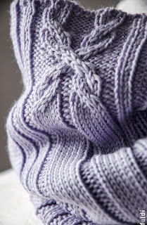 knitted merino wool cowl tube scarf cable passap