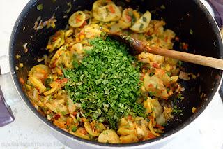 Овощной террин-приготовление