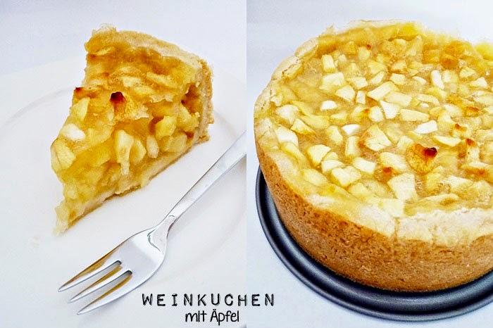 Weinkuchen mit Äpfeln