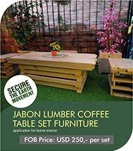 Jabon Lumber Coffee Tabel Set Furniture