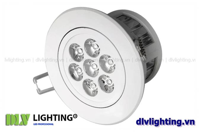 den led downlight am tran chieu roi 7w